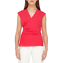 Buy Jacques Vert Fluted Peplum Top, Mid Pink Online at johnlewis.com