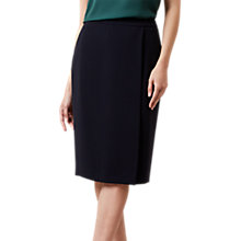 Buy Hobbs Catherine Skirt, Navy Online at johnlewis.com