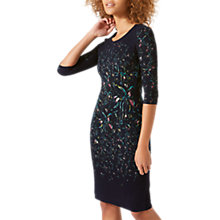 Buy Jigsaw Bleached Floral Jersey Dress, Navy Online at johnlewis.com