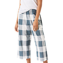 Buy Jigsaw Gingham Wide Leg Trousers, Sea Green Online at johnlewis.com