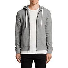Buy AllSaints Cotton Lasher Hoody, Charcoal Marl Online at johnlewis.com
