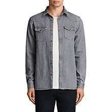 Buy AllSaints Glazer Denim Shirt, Grey Online at johnlewis.com