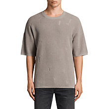 Buy AllSaints Forram Long Sleeve Crew Jumper, Putty Grey Marl Online at johnlewis.com