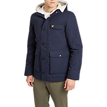 Buy Lyle & Scott Shearling Coat, Navy Online at johnlewis.com