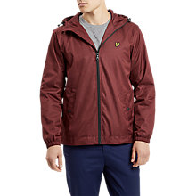 Buy Lyle & Scott Marl Zip Through Hooded Jacket, Claret Marl Online at johnlewis.com