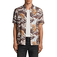 Buy AllSaints Sumatra Slim Fit Short Sleeve Shirt, Coal Grey Online at johnlewis.com