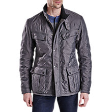 Buy Barbour International Ariel Polarquilt Jacket, Charcoal Online at johnlewis.com
