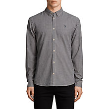 Buy AllSaints Quarry Check Slim Fit Shirt, Ink Navy/Ecru White Online at johnlewis.com