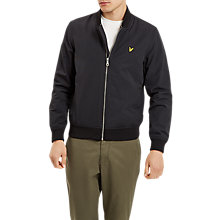 Buy Lyle & Scott Bomber Jacket, True Black Online at johnlewis.com