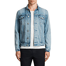 Buy AllSaints Dustout Denim Jacket, Indigo Blue Online at johnlewis.com