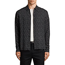 Buy AllSaints New Romantic Long Sleeve Shirt, Black Online at johnlewis.com