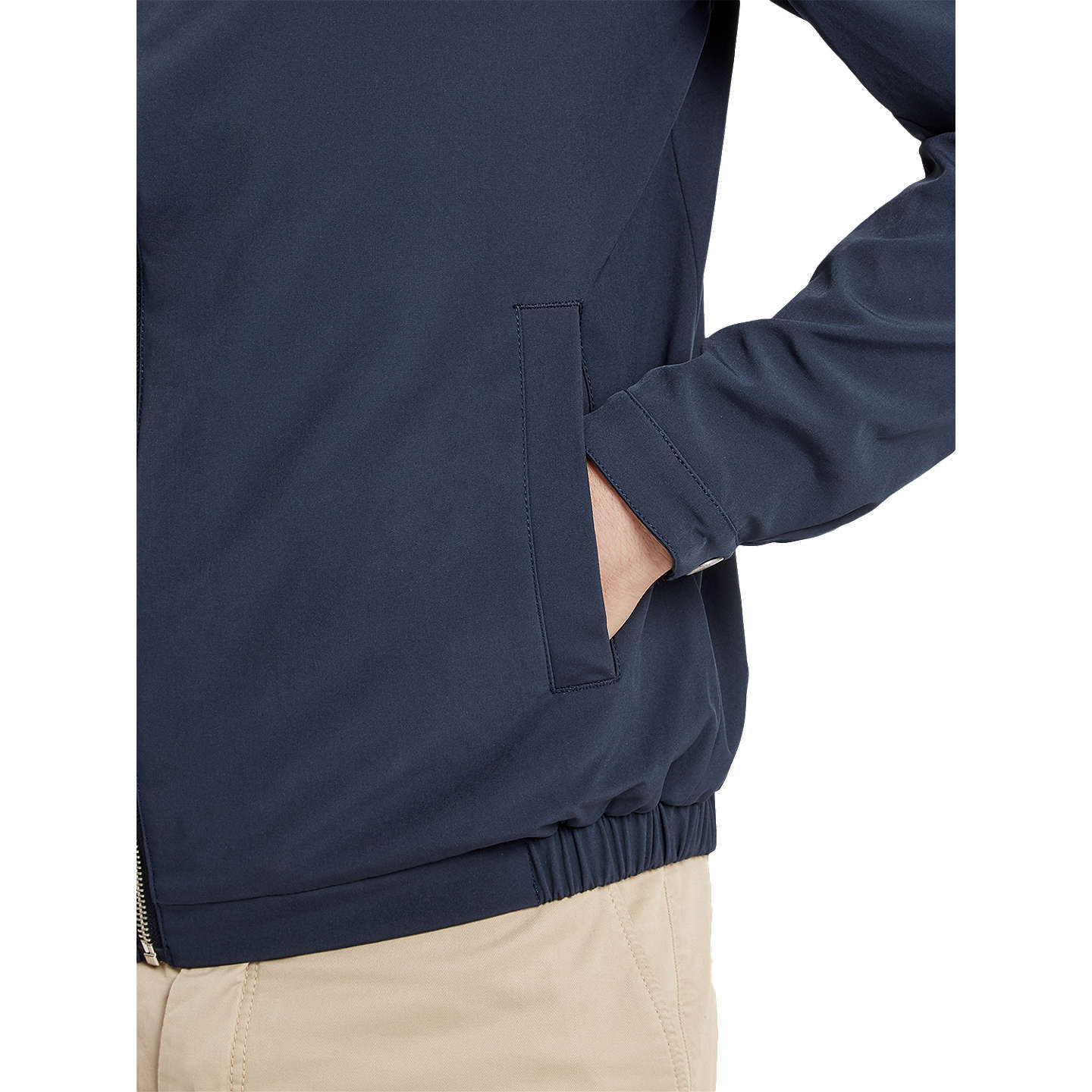 BuyLyle & Scott Jersey Lined Soft Shell Jacket, Navy, S Online at johnlewis.com