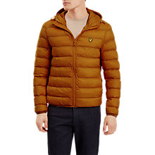 Buy Lyle & Scott Lightweight Puffer Jacket, Dark Gold Online at johnlewis.com