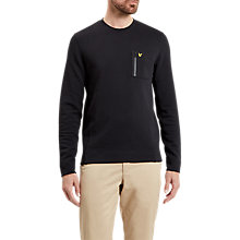 Buy Lyle & Scott Zip Pocket Sweatshirt, True Black Online at johnlewis.com