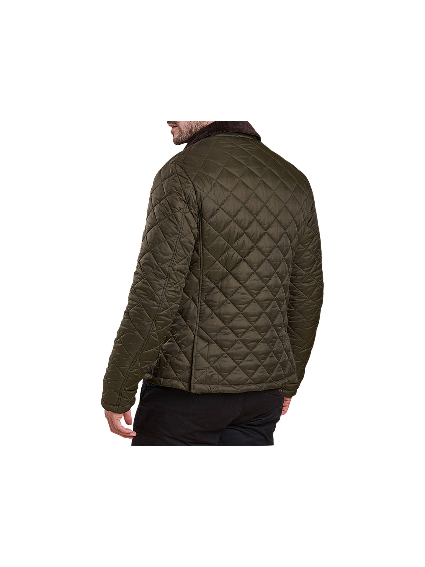 BuyBarbour Land Rover Defender Mulbarton Quilted Jacket, Olive, L Online at johnlewis.com
