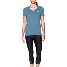Buy Under Armour Threadborne Twist V-Neck Training T-Shirt, Blue Online at johnlewis.com