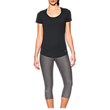 Buy Under Armour Threadborne Streaker Short Sleeve Running T-Shirt, Black Online at johnlewis.com