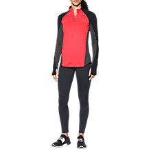 Buy Under Armour ColdGear Armour Half Zip Training Top, Red Online at johnlewis.com