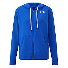 Buy Under Armour Favourite Fleece Full-Zip Hoodie, Blue Online at johnlewis.com