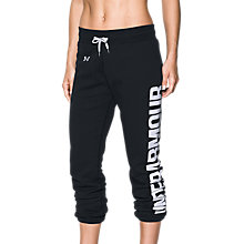 Buy Under Armour Favourite Fleece Joggers, Black Online at johnlewis.com