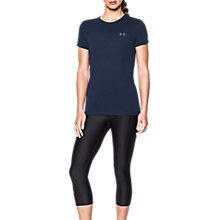 Buy Under Armour Threadborne Train Slub Short Sleeve T-Shirt, Navy Online at johnlewis.com