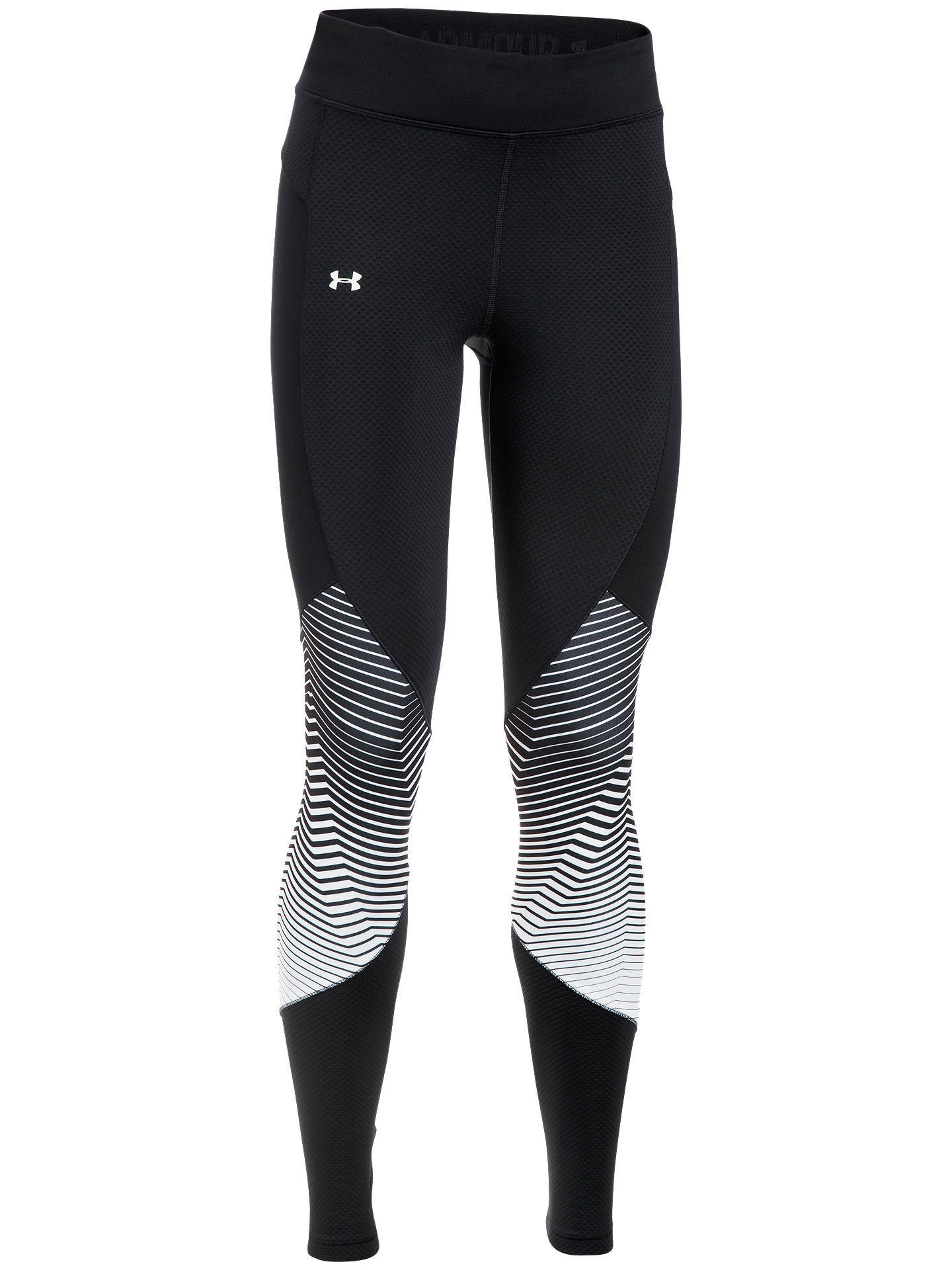 41161fd6a1ca8b ... Buy Under Armour ColdGear Reactor Running Tights, Black, XS Online at  johnlewis.com ...