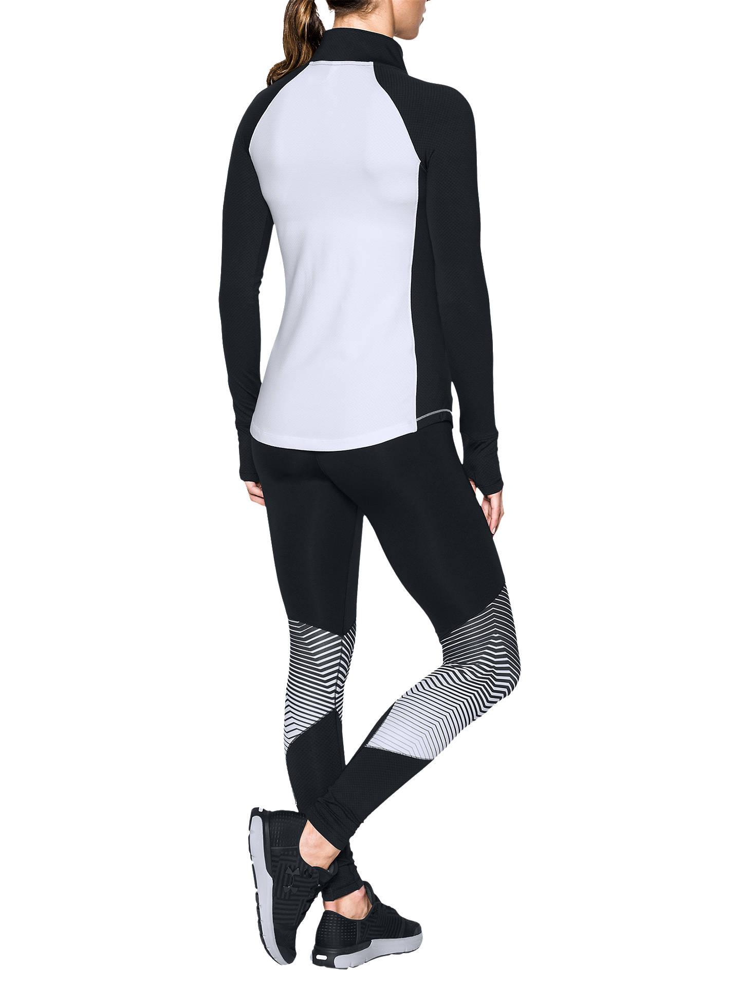 0b2be3771e1feb ... Buy Under Armour ColdGear Reactor Zip Long Sleeve Training Shirt, White/ Black, XS ...