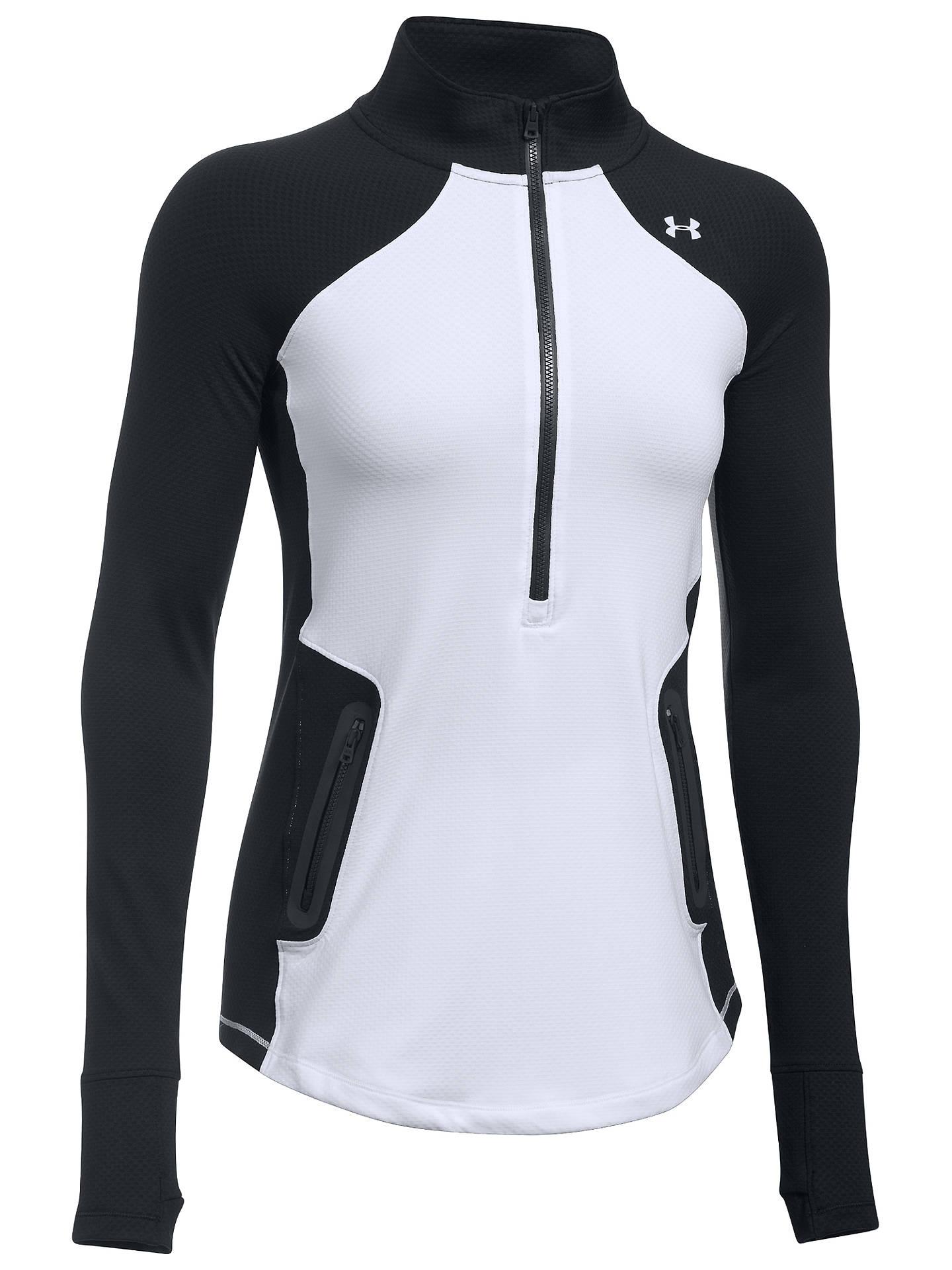 c351e00d ... Buy Under Armour ColdGear Reactor Zip Long Sleeve Training Shirt,  White/Black, XS ...