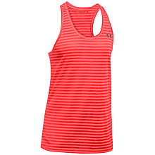 Buy Under Armour Threadborne Train Striped Tank Top, Red Online at johnlewis.com