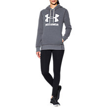 Buy Under Armour Favourite Fleece Hoodie, Carbon Heather Online at johnlewis.com