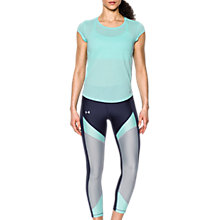 Buy Under Armour Threadborne Mesh Short Sleeve Running Top, Blu Online at johnlewis.com