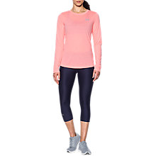 Buy Under Armour Threadborne Twist Long Sleeve Training Top, Coral Online at johnlewis.com