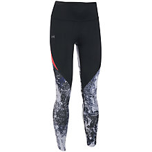 Buy Under Armour Run True Breathelux Printed Crop Leggings, Black Online at johnlewis.com