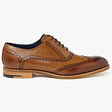 Buy Barker Valiant Hand Painted Oxford Brogues, Brown Online at johnlewis.com
