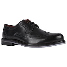 Buy Ted Baker Titanium Derby Shoes, Black Online at johnlewis.com