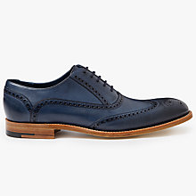 Buy Barker Valiant Hand Painted Oxford Brogues, Navy Online at johnlewis.com
