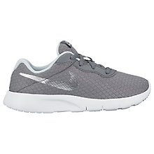 Buy Nike Children's Tanjun GSTrainers, Grey/Silver Online at johnlewis.com