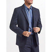 Buy John Lewis Yarn Dye Cotton Blend Blazer, Navy Online at johnlewis.com