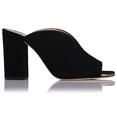 L.K.Bennett Carmela Block Heeled Mule Sandals, Black