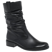 Buy Gabor Trafalgar Wide Fit Calf Boots, Black Online at johnlewis.com