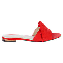 Buy Karen Millen Ruffle Slider Sandals, Orange Online at johnlewis.com