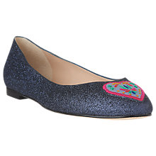 Buy L.K. Bennett Zoja Embroidered Heart Ballet Pumps Online at johnlewis.com