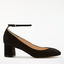 Buy John Lewis Angie Block Heeled Court Shoes, Black Online at johnlewis.com