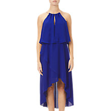 Buy Adrianna Papell Asymmetric Blouson Dress, Bright Cobalt Online at johnlewis.com