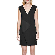 Buy French Connection Manhattan Fold Front Dress, Black Online at johnlewis.com