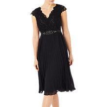 Buy Jacques Vert Midi Lace Bodice Dress, Black Online at johnlewis.com