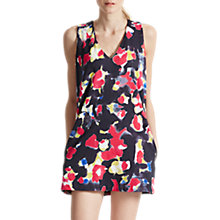Buy French Connection Bella Lula Floral Tunic Dress, Utility Blue Multi Online at johnlewis.com