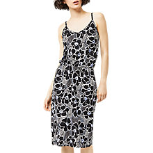 Buy Warehouse Woodblock Print Cami Dress, Purple Pattern Online at johnlewis.com