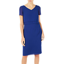 Buy Jacques Vert Soft Layers Dress, Dark Blue Online at johnlewis.com