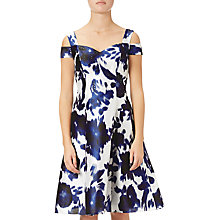Buy Adrianna Papell Iridescent Faille Sleeveless Cocktail Dress, Midnight/Ivory Online at johnlewis.com